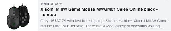 53% DE DESCONTO para Xiaomi MIIIW Game Mouse MWGM01