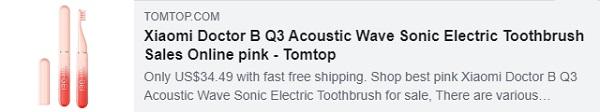 53% DE DESCUENTO para Xiaomi Doctor B Q3 Cepillo de dientes eléctrico sónico de onda acústica