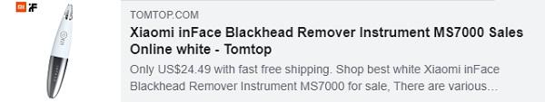 54% de descuento para Xiaomi inFace Blackhead Remover Instrument MS7000