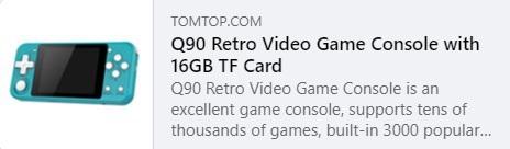 Preço do videogame retro Q90: $ 26,99